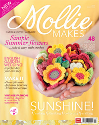 Crochet flowers pattern as seen in Mollie Makes