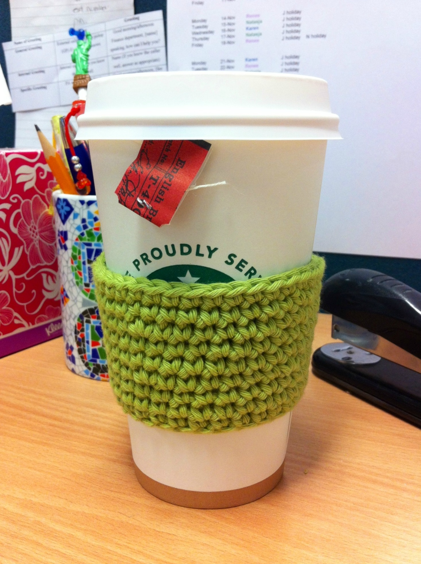 Starbucks Cup Cozy Crochet Pattern Simple Decorating Design