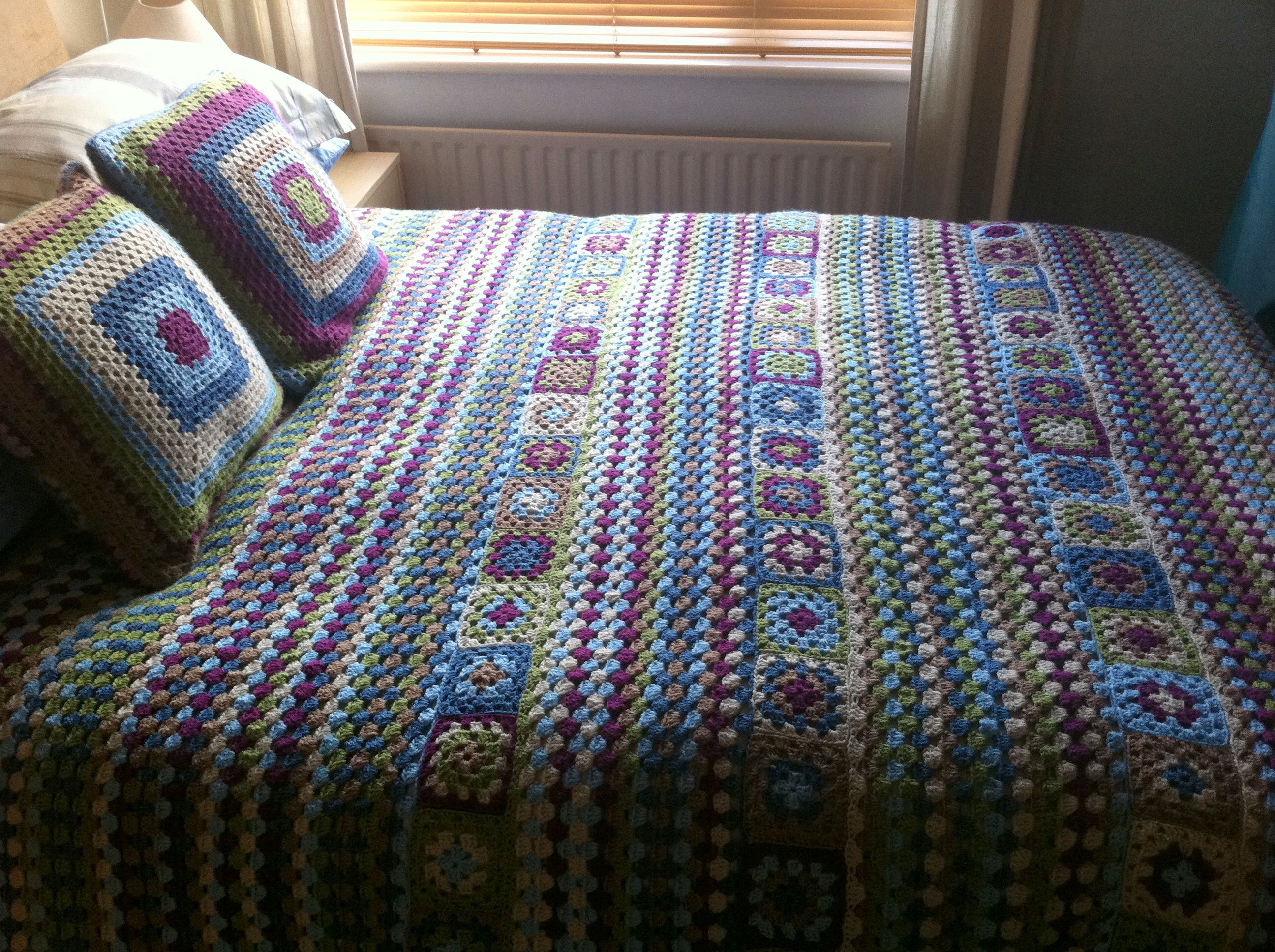 How Many Granny Squares To Make A Single Size Beds