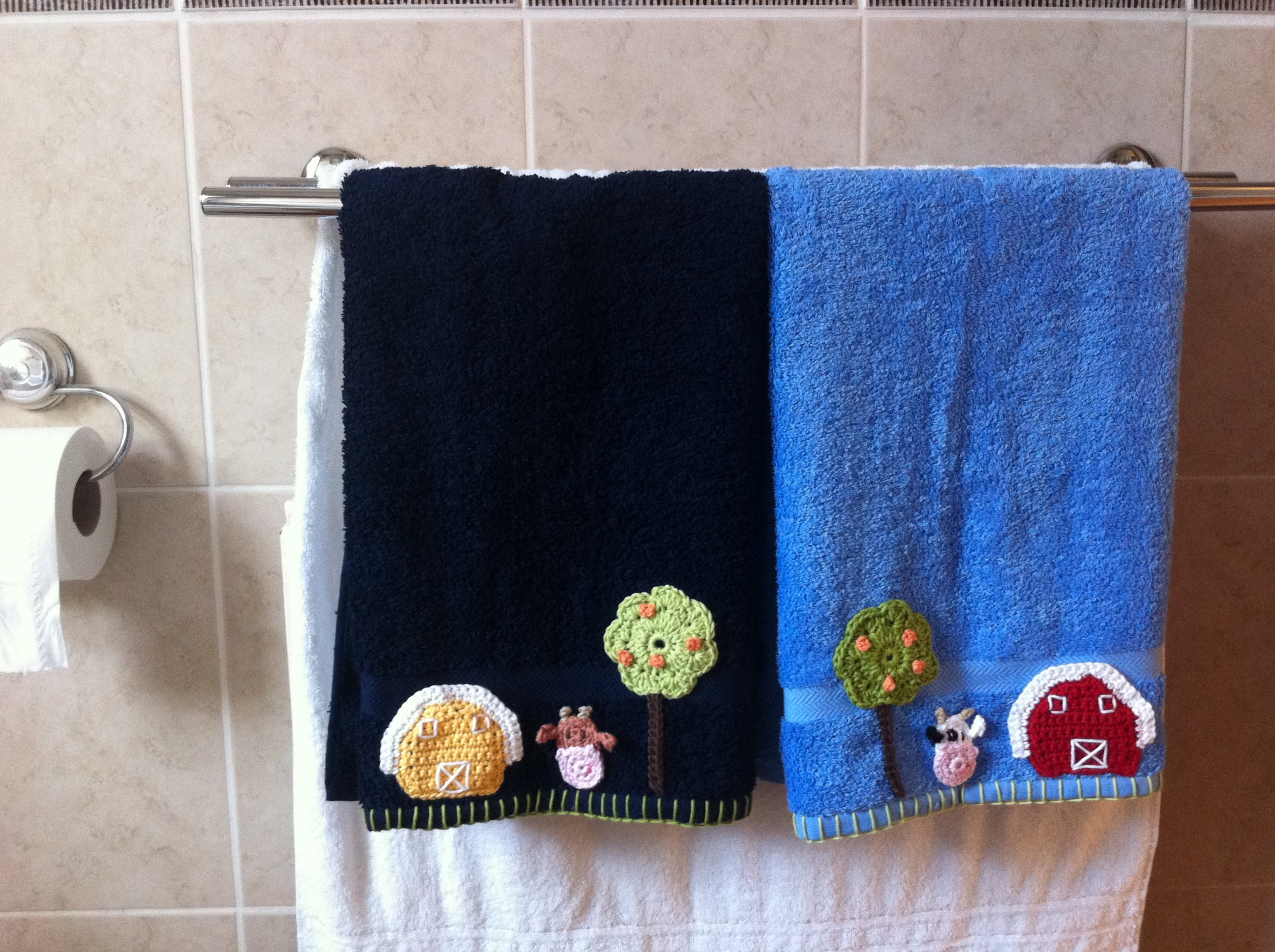 Hand towels for my dad crochetime