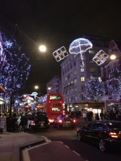 Oxford Street lights, Christmas 2012