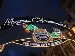 Oxford Street lights, Christmas 2012