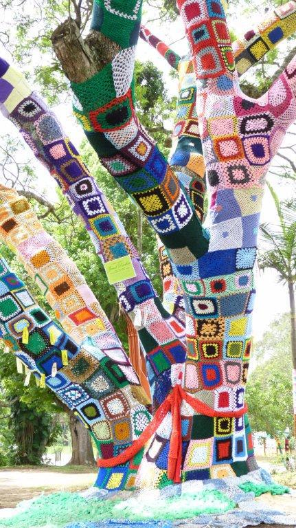 yarnbomb tree hillcrest aids centre