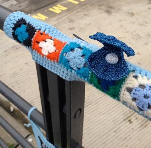Ocean theme yarnbomb