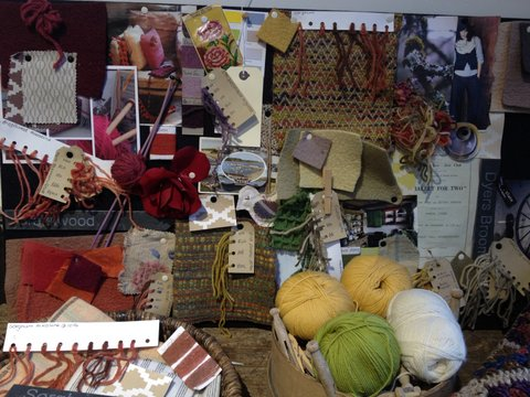 Mood board at Wool House craft room