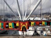 Yarnbomb Rasta railing Genoa