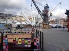 Genoa old harbour yarnbomb