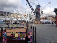 Genoa old harbour yarnbomb
