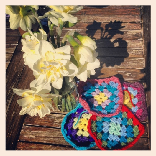 Daffodils and granny squares