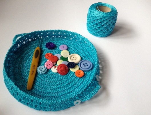 crochet lace basket