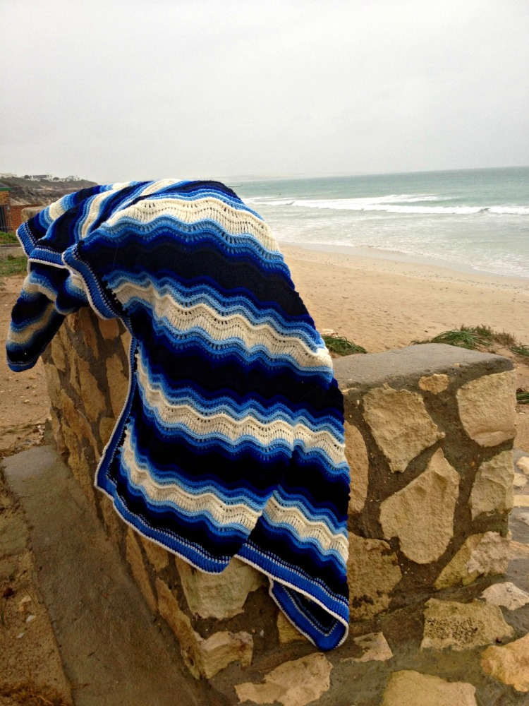 Atlantic Waves ripple blanket Ta-daaaah! (5/6)
