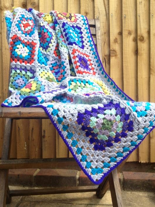 granny square blanket border