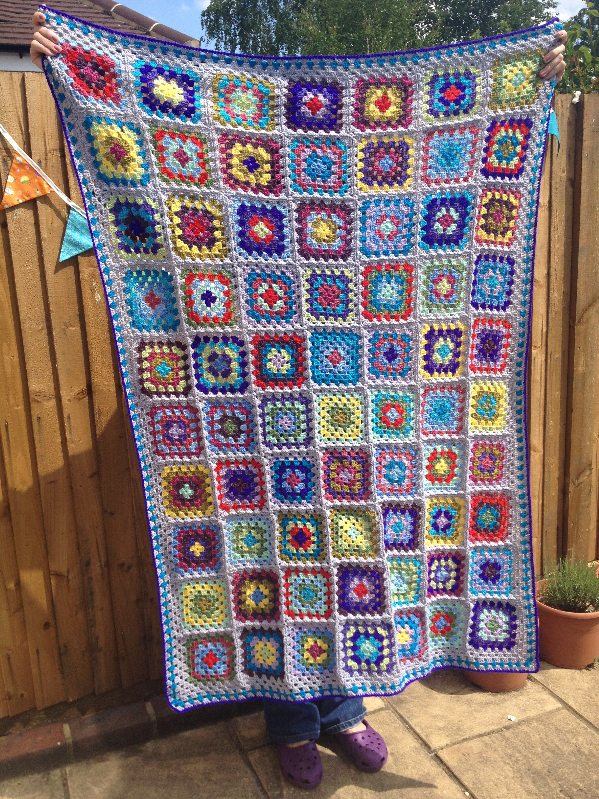 Granny Square Afghan Crochetime