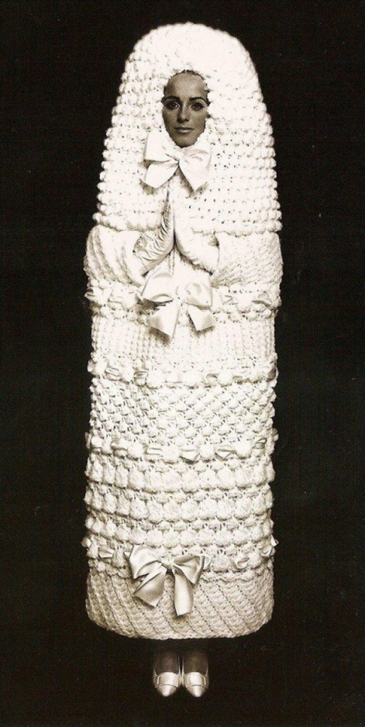 http://weirdvintage.tumblr.com/post/41475186535/yves-saint-laurent-wedding-dress-from-1965