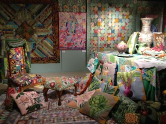 Kaffe Fassett living room