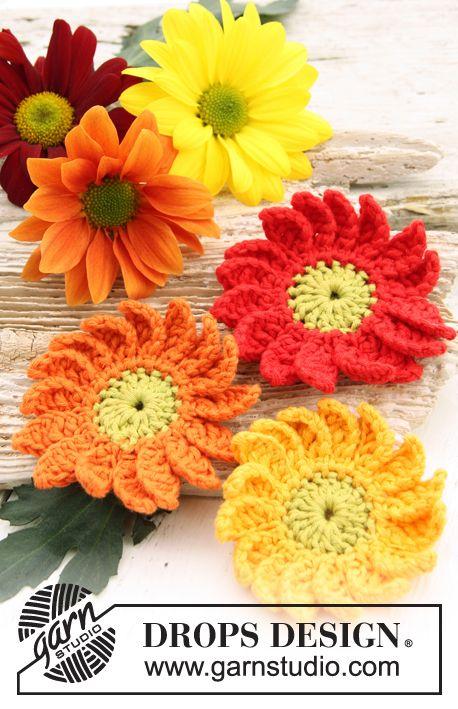 Drops flower crochet pattern