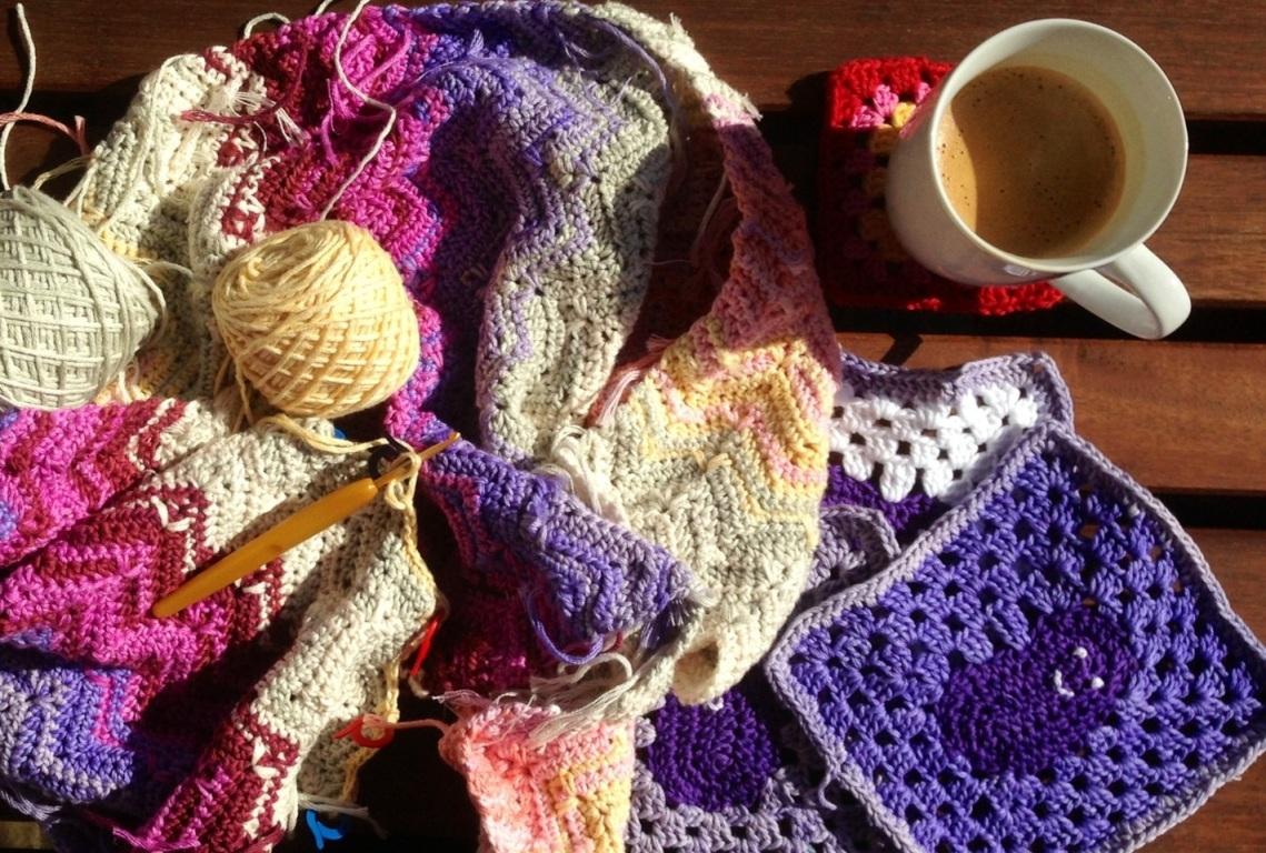crochet in the sun