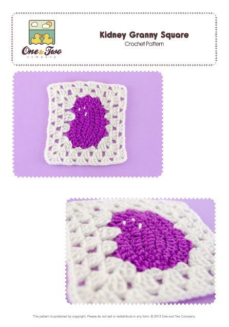 Kidney granny square patter