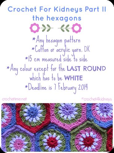 Crochet for Kidneys the hexagons