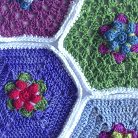 Hexagons In Bloom
