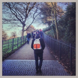 Trekking up the hill to the Royal Observatory