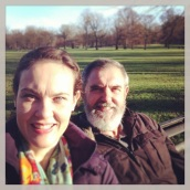 Me and Dad taking a break in Greenwich Park