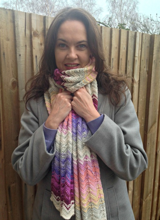 sunset shades chevron scarf