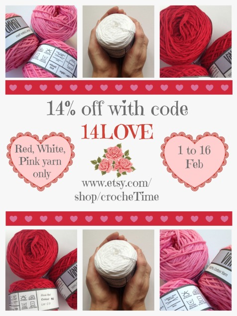 Valentines Day yarn sale
