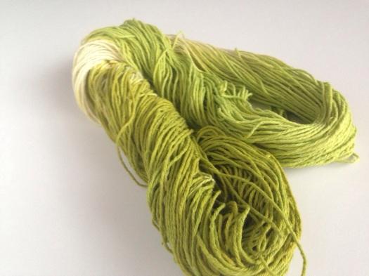 Lime yarn
