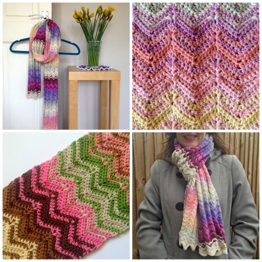 Scarf pattern collage