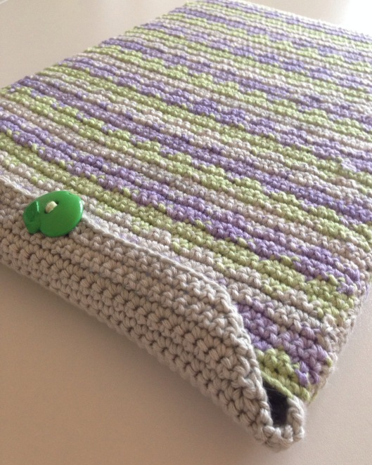tapestry crochet laptop cover