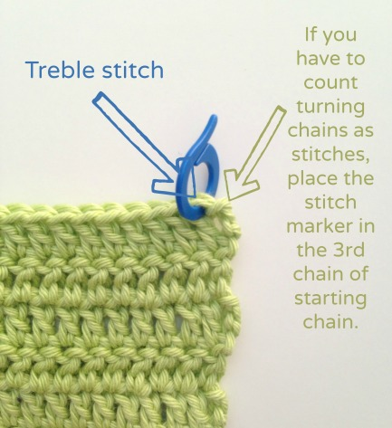 where to place stitch markers