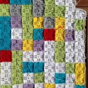 crochet mood blanket 2014 in progress