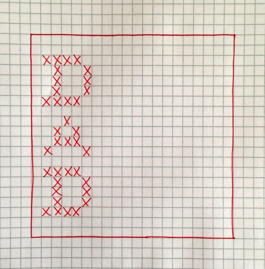 cross stitch pattern for DAD
