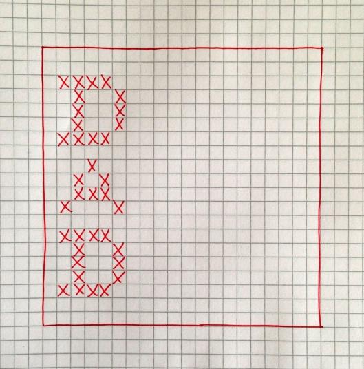 cross stitch pattern for DAD