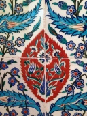 Iznik tiles from Turkey, 1580