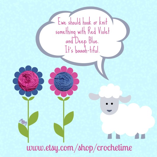 Sheep says red violet and deep blue