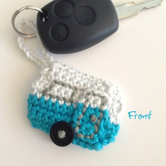 Caravan keychain front with words