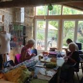 Working in Sue's studio
