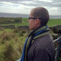Tweed crochet scarf