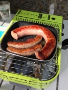 Cumberland sausage and lamb & mint sausages