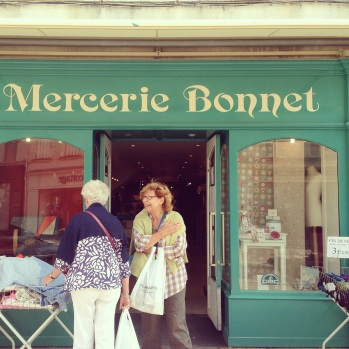 We love yarn shopping! Mercerie Bonnet in Cognac