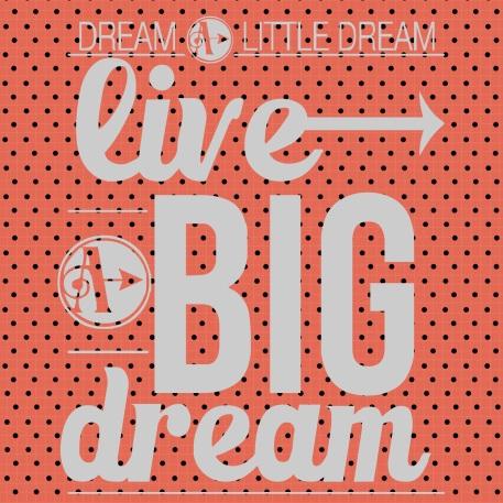 dream a little dream live a big dream