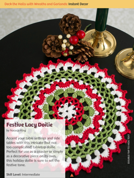 I Like Crochet Festive lace doile