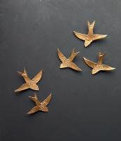 Golden Swallows Moroccon Wall Art