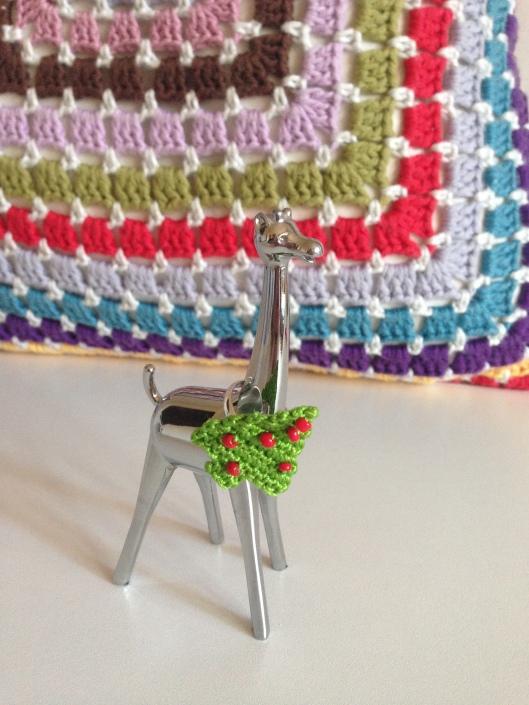 Christmas tree crochet ring