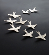 White Swallows Moroccon Wall Art