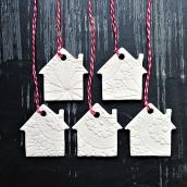 white houses christmas ornaments