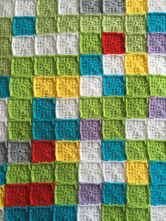 lacy cross crochet squares