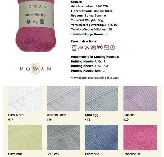 Rowan Pinched Pink Rowan website